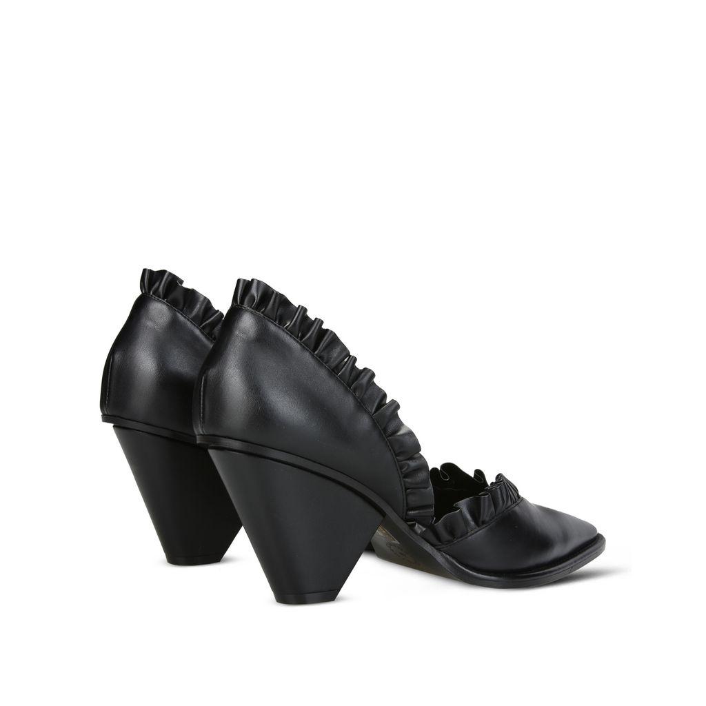 Black ruffle shoes - STELLA MCCARTNEY
