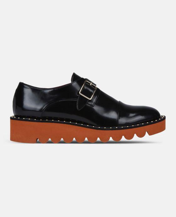 STELLA McCARTNEY Black Odette Brogues Flat Shoes D c