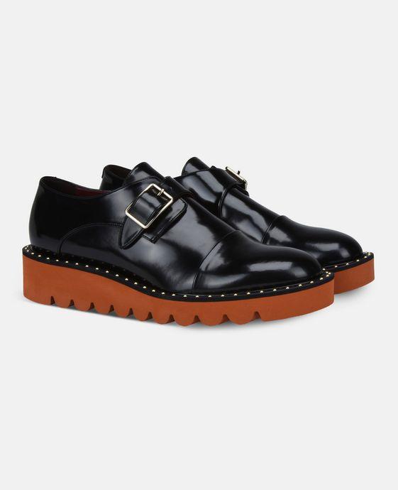 STELLA McCARTNEY Black Odette Brogues Flat Shoes D h