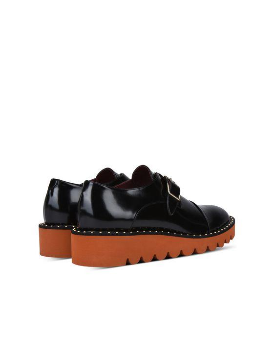 STELLA McCARTNEY Black Odette Brogues Flat Shoes D i