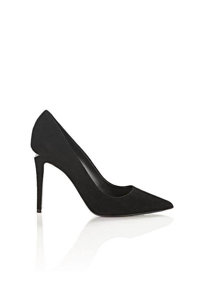ALEXANDER WANG Heels Women TIA SUEDE HIGH HEEL PUMP WITH RHODIUM