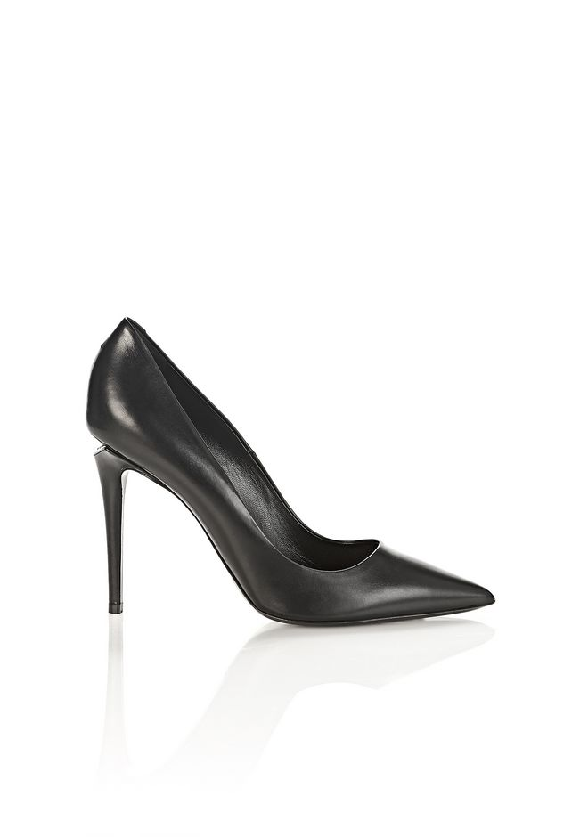 ALEXANDER WANG classics TIA HIGH HEEL PUMP WITH RHODIUM