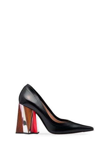 Marni Pump in calfskin sculptured heel Woman