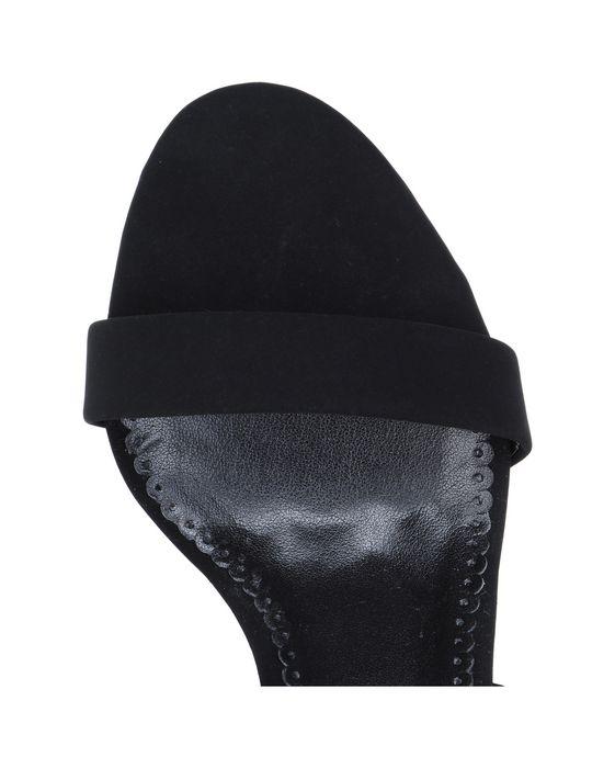STELLA McCARTNEY Black ruffle sandals Courts D p