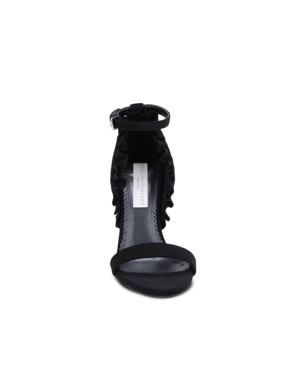 Black ruffle sandals - STELLA MCCARTNEY