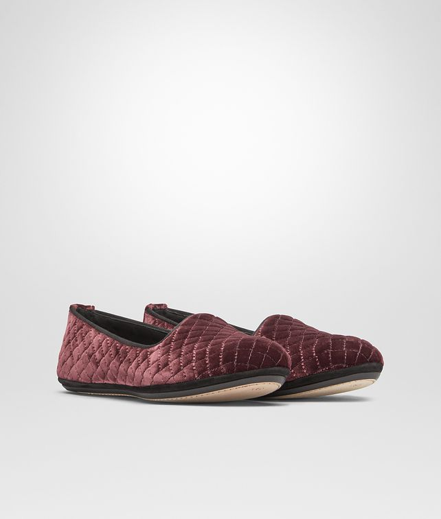 BOTTEGA VENETA GONDOLIERA SLIPPER IN BAROLO EMBROIDERED VELVET, INTRECCIATO DETAILS Flat D fp
