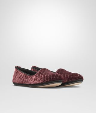 GONDOLIERA SLIPPER IN BAROLO EMBROIDERED VELVET, INTRECCIATO DETAILS