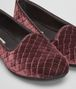 BOTTEGA VENETA GONDOLIERA SLIPPER IN BAROLO EMBROIDERED VELVET, INTRECCIATO DETAILS Flat D ap
