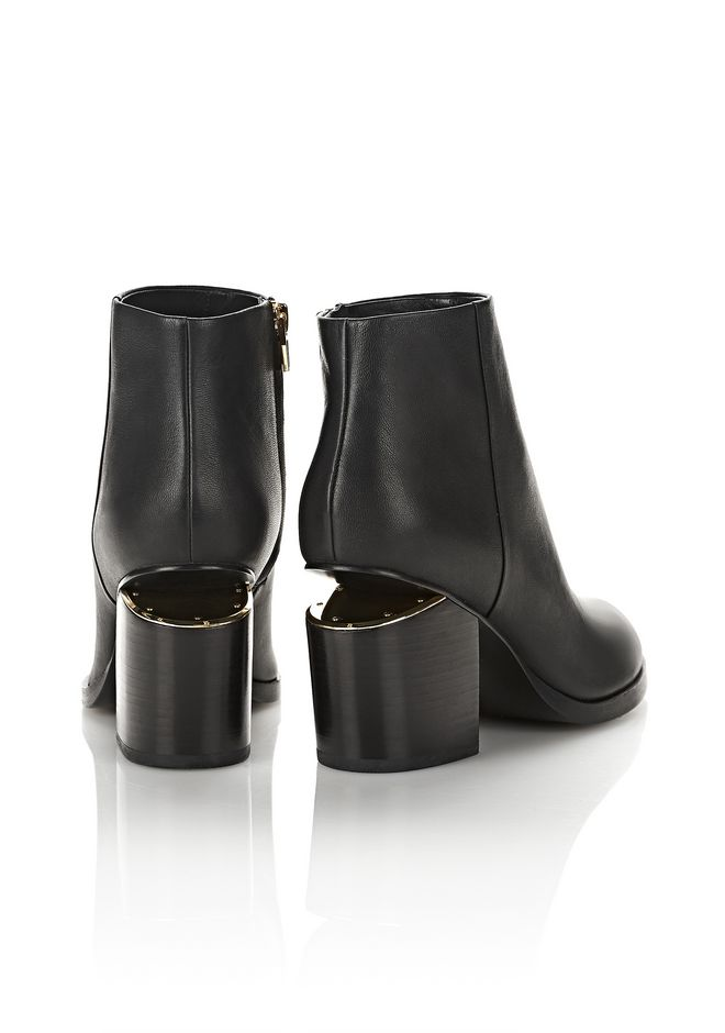 ALEXANDER WANG GABI BOOTIE WITH YELLOW GOLD BOOTS Adult 12_n_r