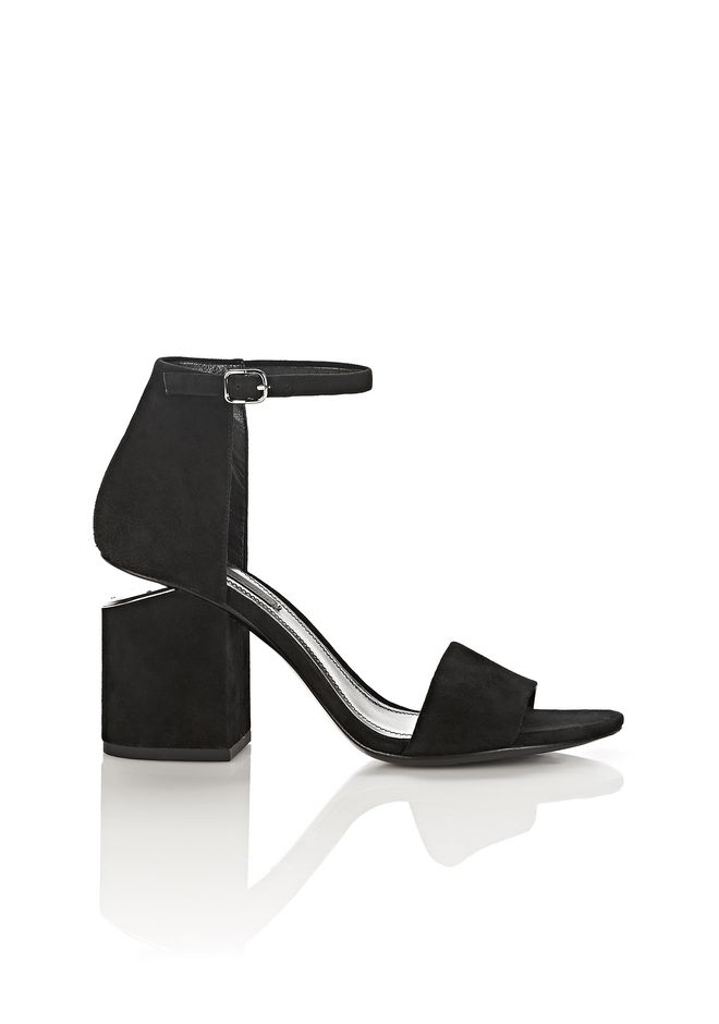 ALEXANDER WANG womens-classics ABBY SUEDE SANDAL WITH RHODIUM