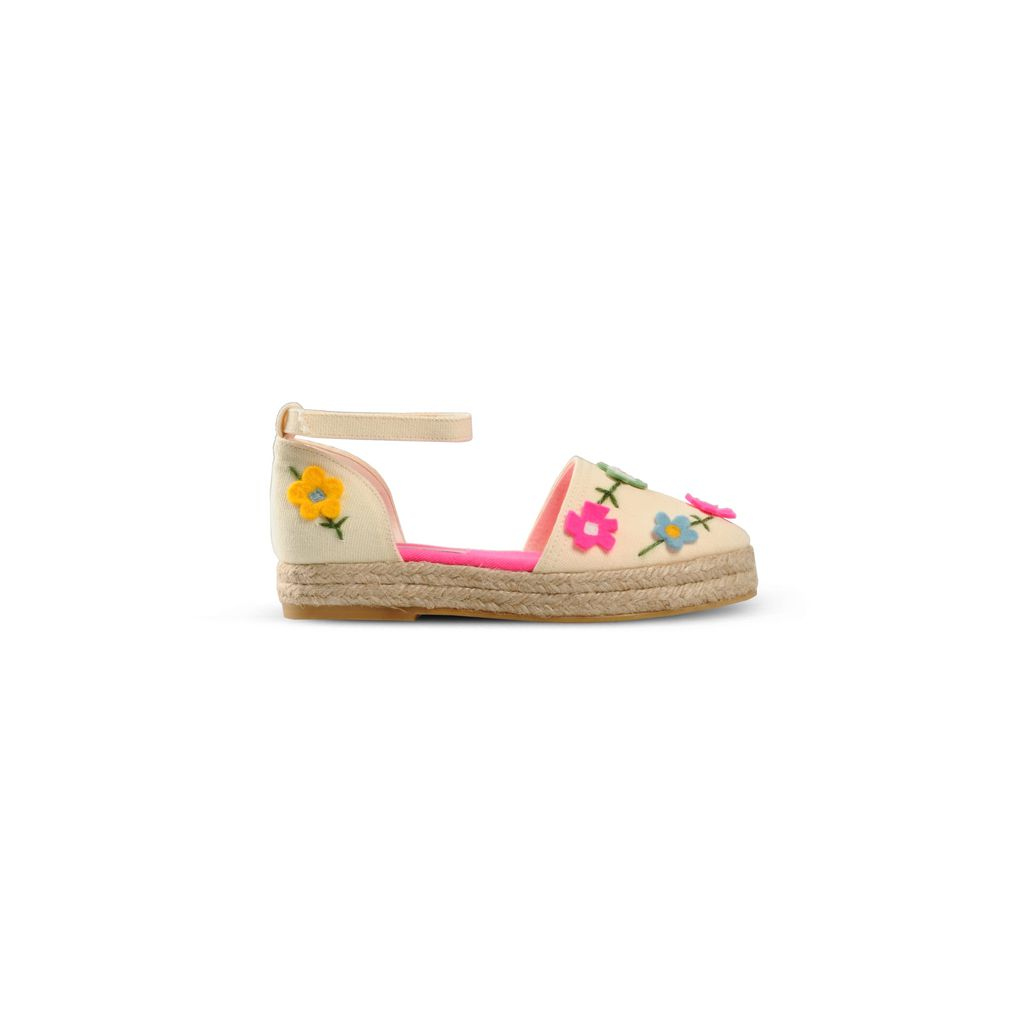 White Felt Flowers Espadrilles - STELLA MCCARTNEY KIDS