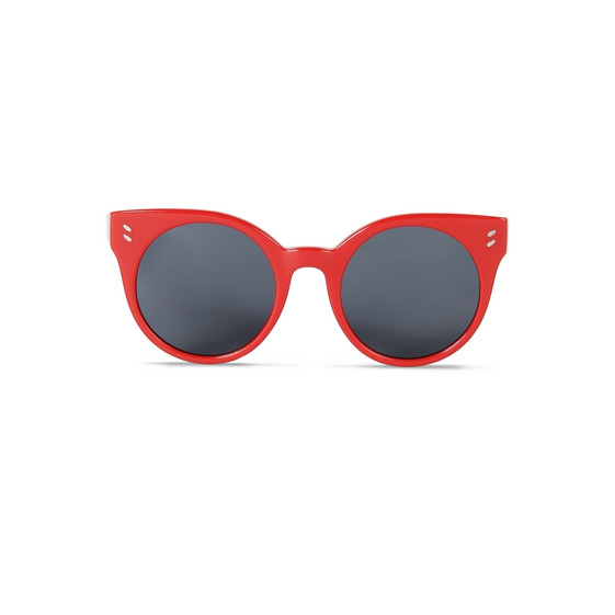 Red Oval Sunglasses