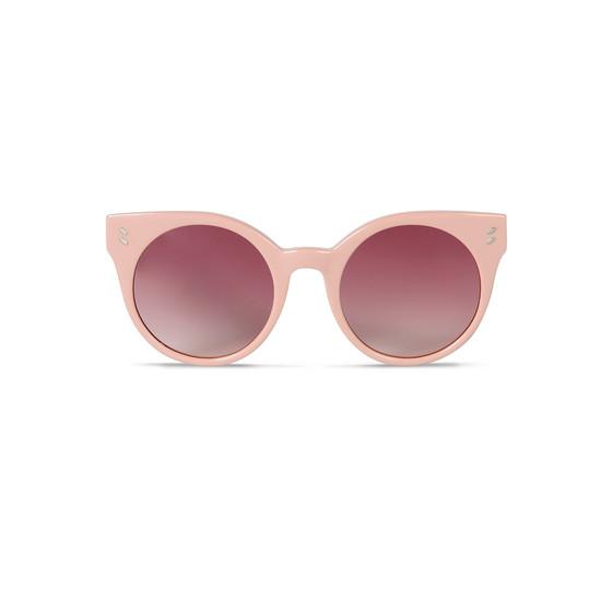 ライトピンク オーバル サングラス