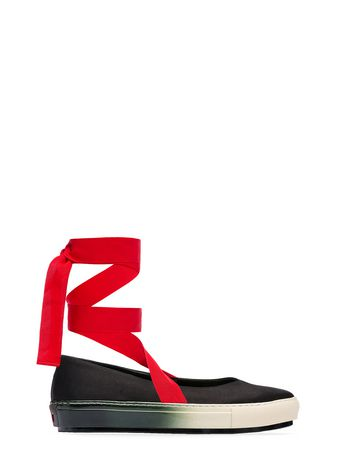 Marni Satin silk ballet flat with laces Woman