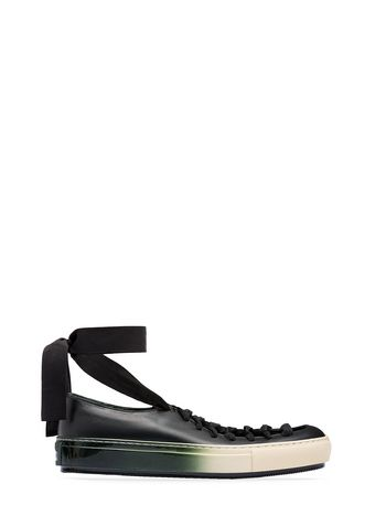 Marni Calfskin ballet flat with laces  Woman
