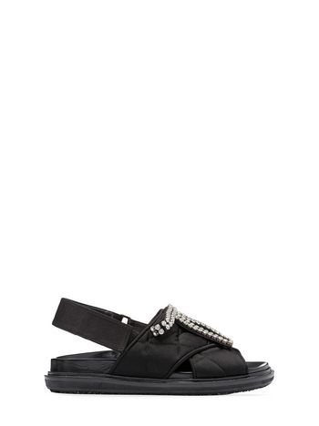 Marni Fussbett in quilted satin Woman