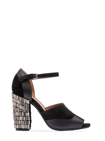 Marni Suede sandal with crystals Woman