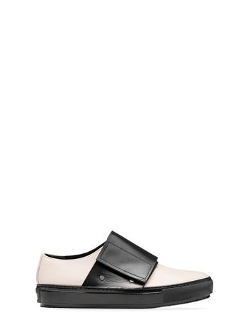 Marni White-black calfskin sneaker Woman