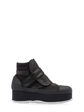 Marni Wedge ankle boot in canvas  Woman