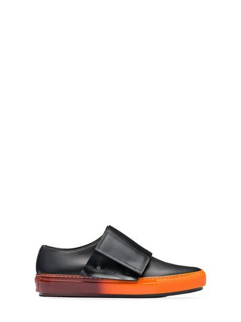 Marni Calfskin sneaker orange sole Woman