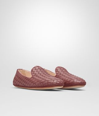 FIANDRA SLIPPER IN DUSTY ROSE INTRECCIATO NAPPA