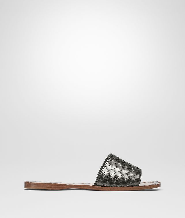 BOTTEGA VENETA ARGENTO ANTIQUE INTRECCIATO CALF SANDALS Sandals [*** pickupInStoreShipping_info ***] fp