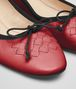 BOTTEGA VENETA CHINA RED NAPPA LEATHER PICNIC BALLERINA Flat Woman ap