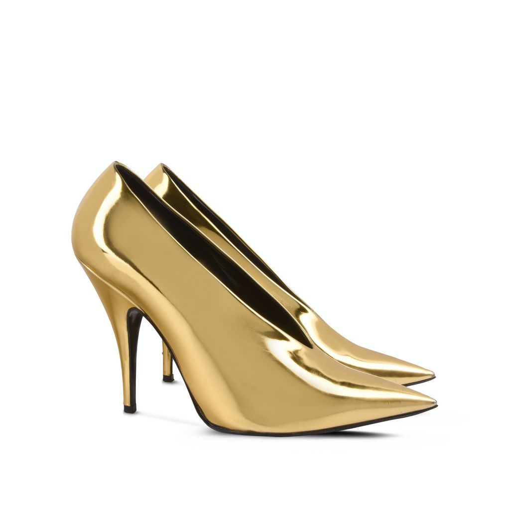 Gold Pointed Pumps - STELLA MCCARTNEY