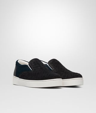 DODGER SNEAKER IN NERO DARK NAVY ARDOISE INTRECCIATO SUEDE