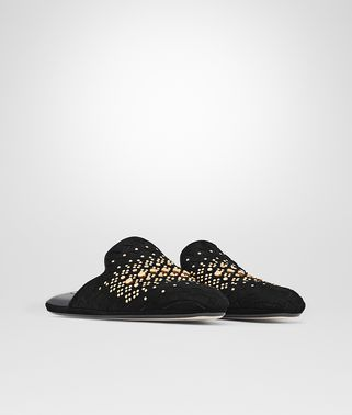 FIANDRA SLIPPER AUS INTRECCIATO WILDLEDER IN NERO