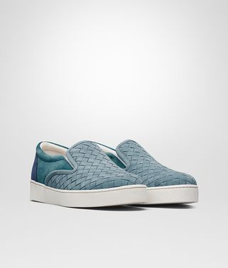 DODGER SNEAKER IN AIR FORCE BLUE BRIGHTON PACIFIC INTRECCIATO SUEDE