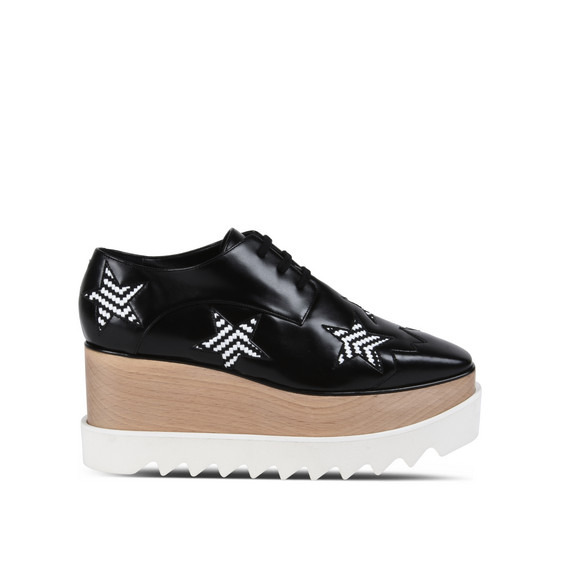 Black Elyse Woven Star Shoes
