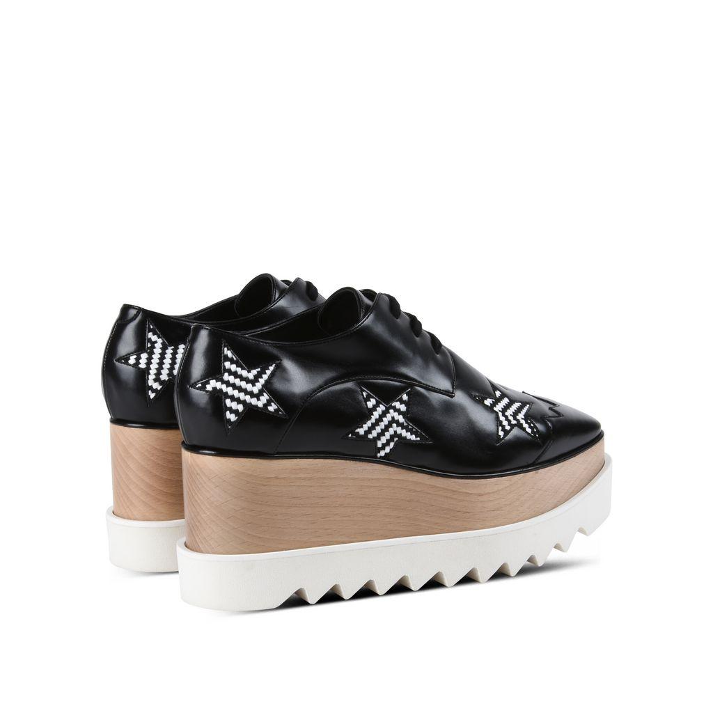 Black Elyse Woven Star Shoes - STELLA MCCARTNEY