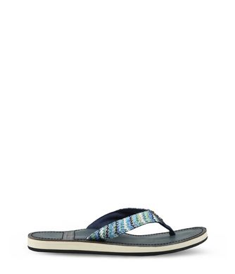 NAPAPIJRI ARIEL LEATHER WOMAN FLIP FLOPS,SKY BLUE