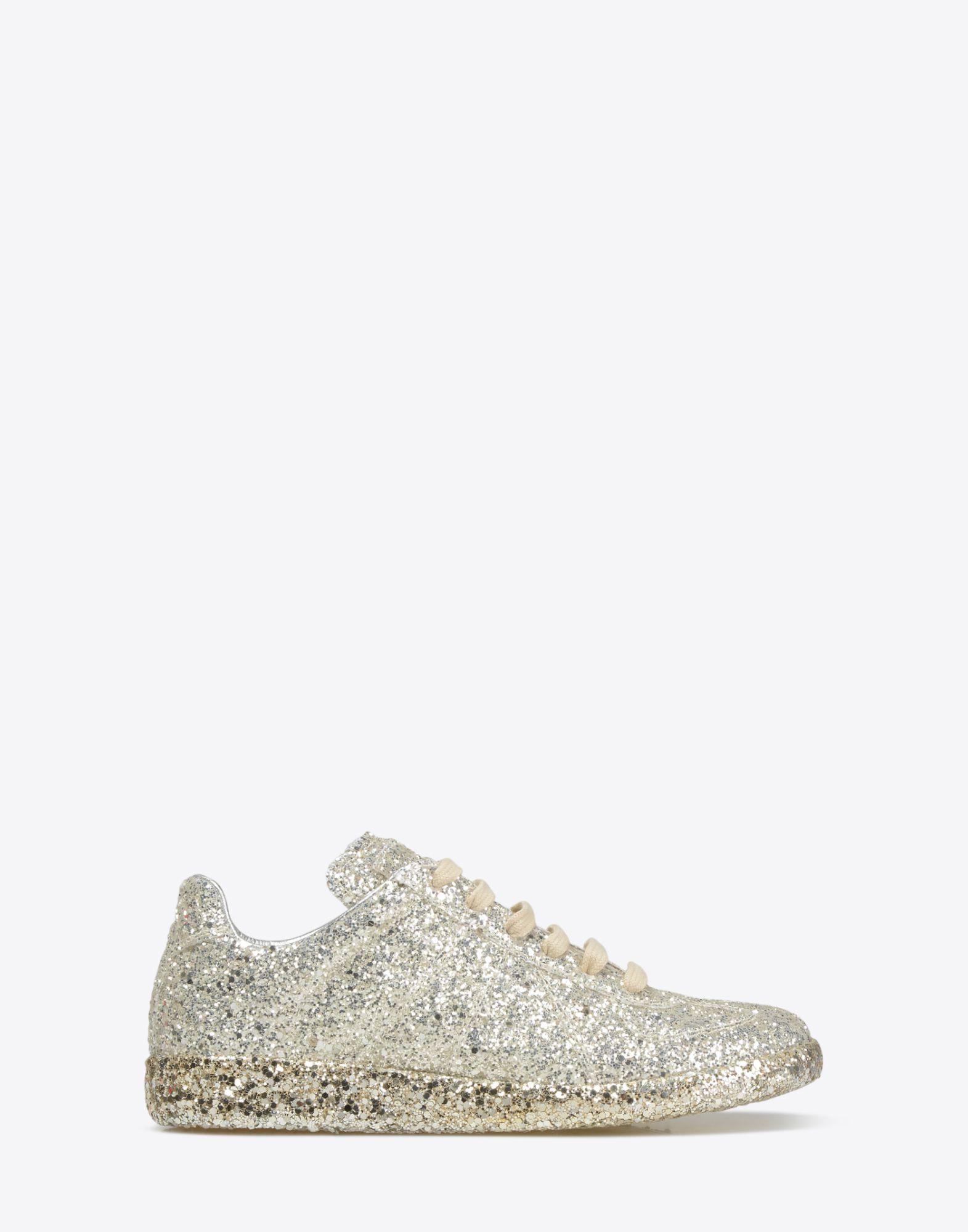MAISON MARGIELA Sneakers «Replica» avec paillettes Sneakers Femme f