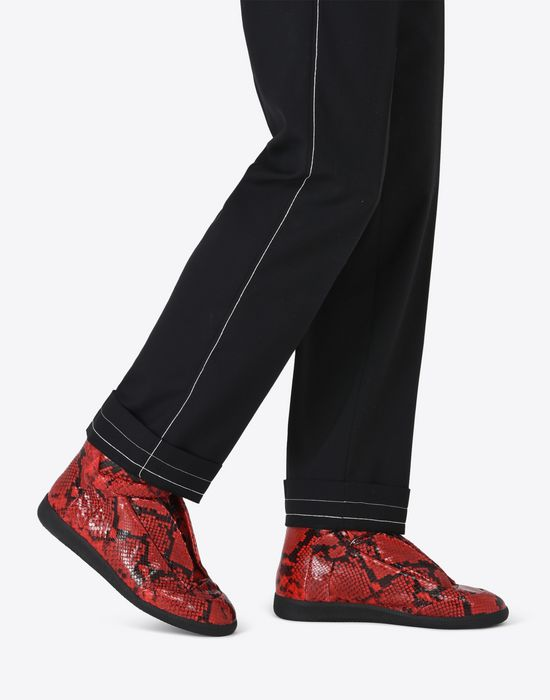 ab7a5441a69 Maison Margiela'Future' High Top Sneakers With Python Effect Men ...