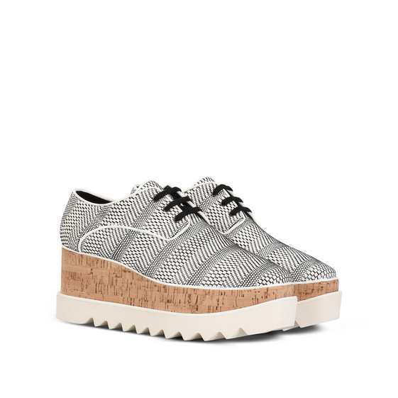 Black and White Woven Elyse Shoes
