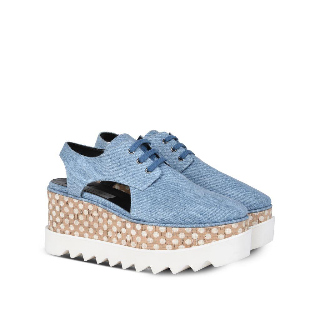 Denim Elyse Cut-Out Shoes - STELLA MCCARTNEY