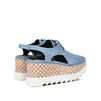 STELLA McCARTNEY Denim Elyse Cut-Out Shoes Wedges D d