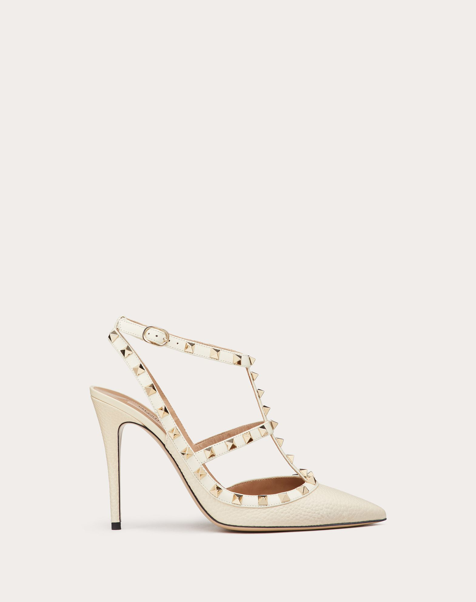 VALENTINO Solid colour Textured leather Metal Applications  11139730sh
