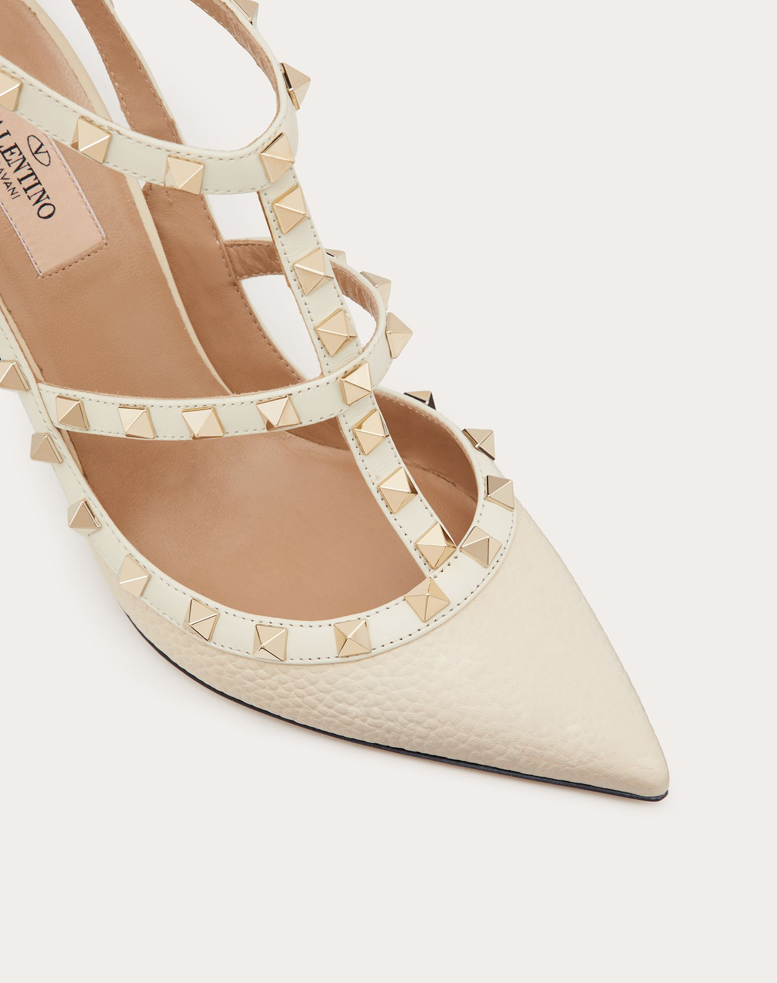 VALENTINO GARAVANI Rockstud Ankle Strap HIGH HEEL PUMPS D a