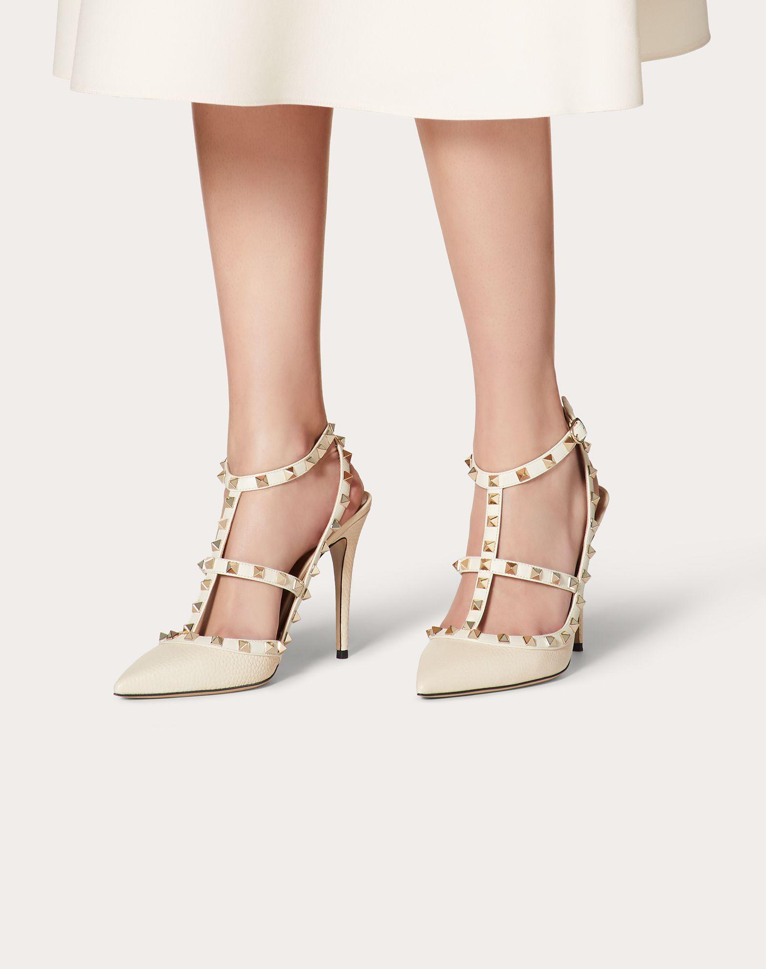 VALENTINO GARAVANI Rockstud Ankle Strap HIGH HEEL PUMPS D b