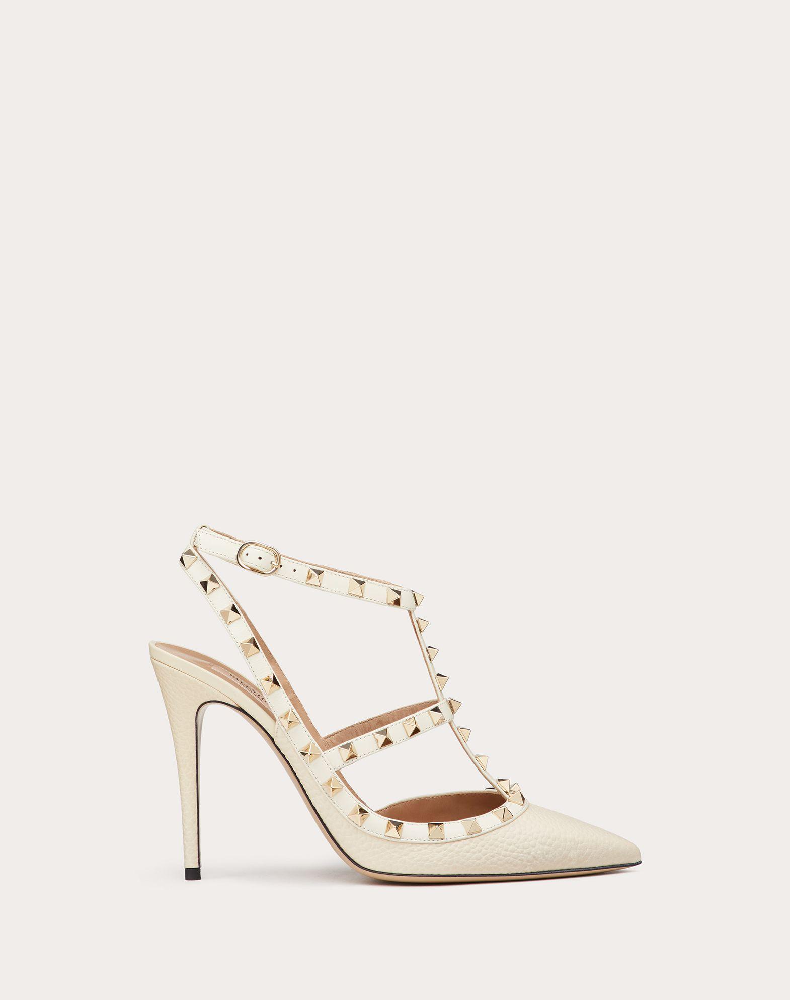 VALENTINO GARAVANI Rockstud Ankle Strap HIGH HEEL PUMPS D f