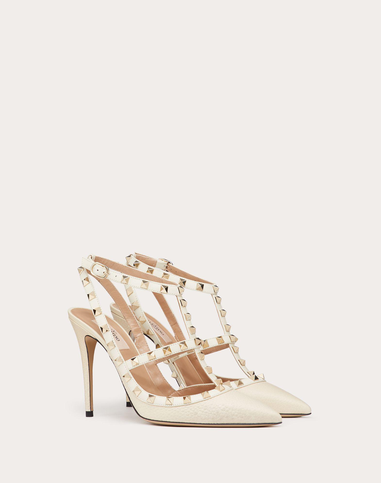 VALENTINO GARAVANI Rockstud Ankle Strap HIGH HEEL PUMPS D r