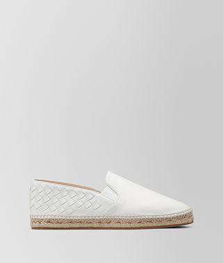 白色编织小羊皮麻底鞋