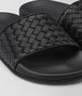 BOTTEGA VENETA LAKE SANDAL IN NERO INTRECCIATO CALF Sandals Woman ap