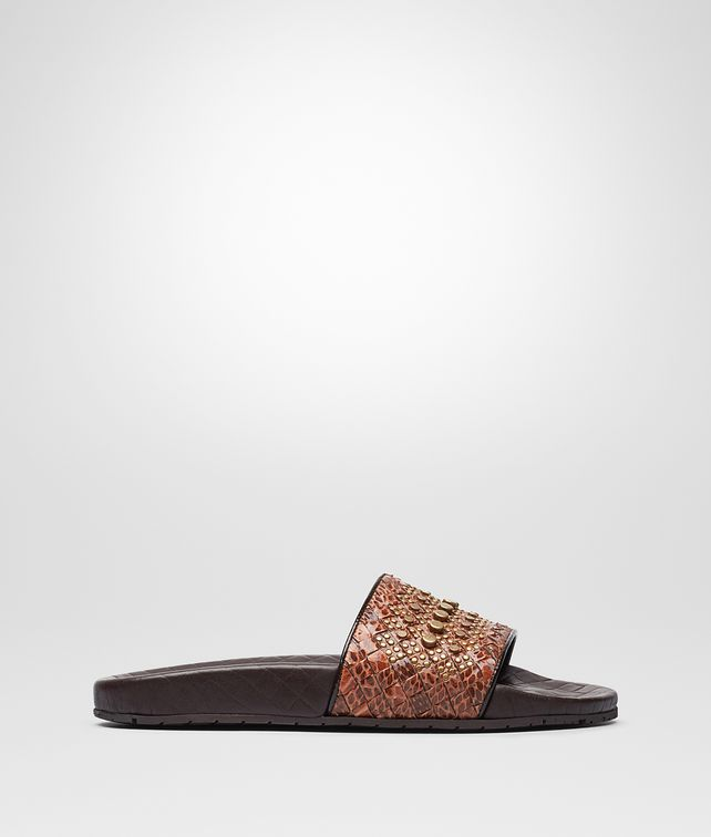 BOTTEGA VENETA LAKE SANDAL IN CALVADOS INTRECCIATO AYERS Pump or Sandal Woman fp