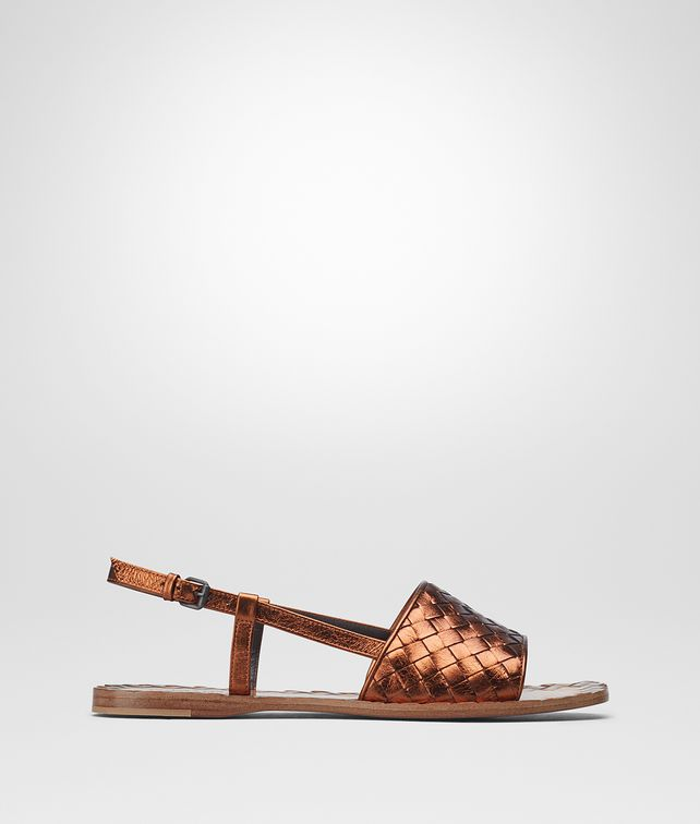 BOTTEGA VENETA RAVELLO SANDALS IN CALVADOS INTRECCIATO CALF Pump or Sandal Woman fp