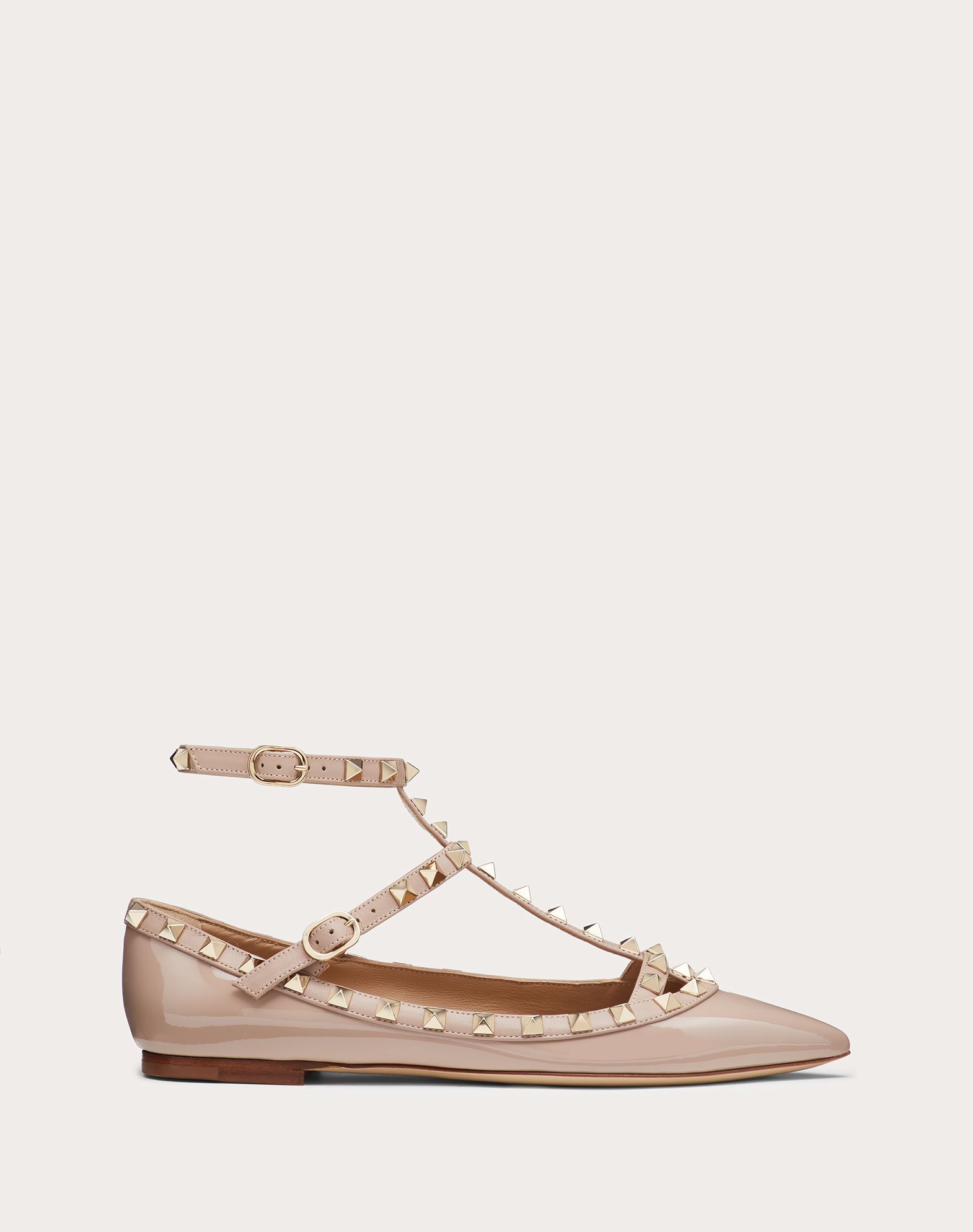 VALENTINO Metal Applications Solid color Buckle Leather sole Narrow toeline  11141501qm