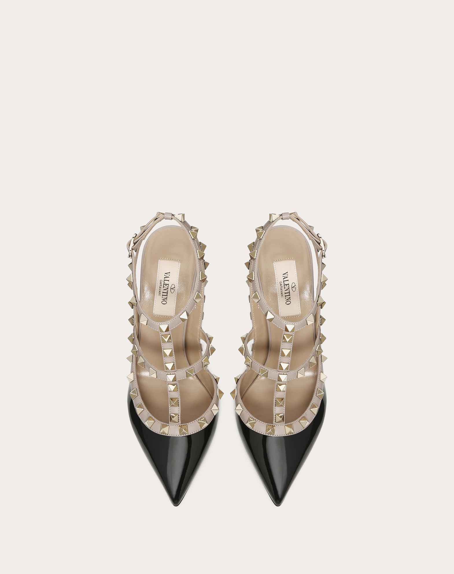 VALENTINO Two-tone Varnished effect Metal Applications  11141509rd